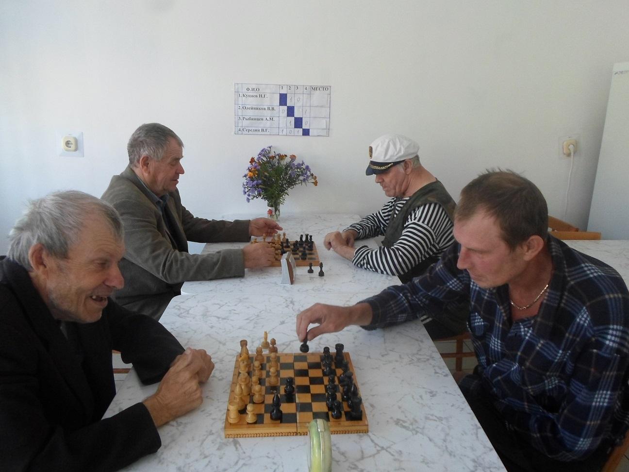 Турнир по шахматам среди получателей социальных услуг