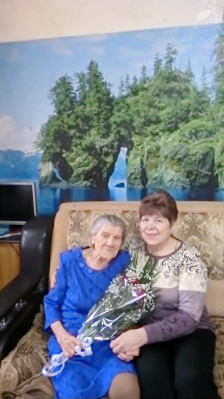Поздравление с 95 -летним юбилеем участницы ВОВ